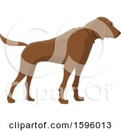 Clipart Of A Hunting Dog Royalty Free Vector Illustration