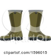 Clipart Of A Pair Of Boots Royalty Free Vector Illustration