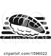 Clipart Of A Black And White Sushi Design Royalty Free Vector Illustration