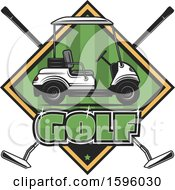 Clipart Of A Sports Golf Design Royalty Free Vector Illustration
