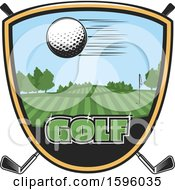 Clipart Of A Sports Golf Design Royalty Free Vector Illustration by Vector Tradition SM