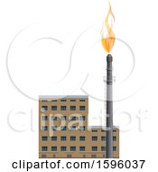 Clipart Of A Refinery Royalty Free Vector Illustration