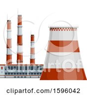 Clipart Of A Power Plant Royalty Free Vector Illustration