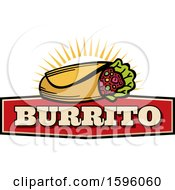 Clipart Of A Burrito Food Design Royalty Free Vector Illustration