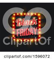 Clipart Of A Black Friday Light Design Royalty Free Vector Illustration