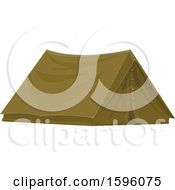 Clipart Of A Tent Royalty Free Vector Illustration