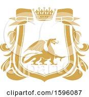 Golden Yellow Dragon Shield