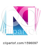Blue And Pink Letter N Logo