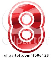 Clipart Of A Red Number 8 Logo Royalty Free Vector Illustration