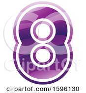 Clipart Of A Purple Number 8 Logo Royalty Free Vector Illustration
