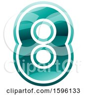 Clipart Of A Green Number 8 Logo Royalty Free Vector Illustration