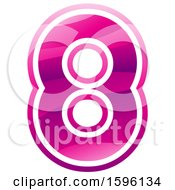 Clipart Of A Pink Number 8 Logo Royalty Free Vector Illustration