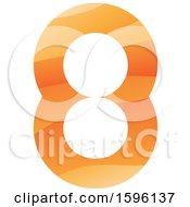 Clipart Of An Orange Number 8 Logo Royalty Free Vector Illustration