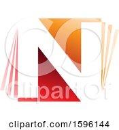 Red And Orange Letter N Logo