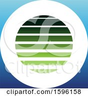 Clipart Of A Striped Green And Blue Letter O Logo Royalty Free Vector Illustration