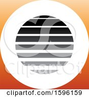 Clipart Of A Striped Gray And Orange Letter O Logo Royalty Free Vector Illustration