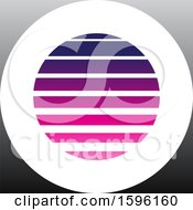 Clipart Of A Striped Purple And Gray Letter O Logo Royalty Free Vector Illustration