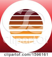 Clipart Of A Striped Orange And Red Letter O Logo Royalty Free Vector Illustration