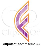 Clipart Of A Rounded Purple Letter F Logo Royalty Free Vector Illustration