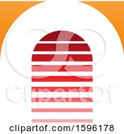 Striped Red And Orange Letter A Logo