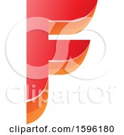Clipart Of A Layered Red And Orange Letter F Logo Royalty Free Vector Illustration