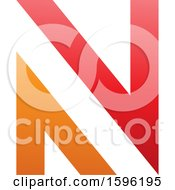 Clipart Of A Red And Orange Letter N Logo Royalty Free Vector Illustration