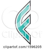 Clipart Of A Rounded Green Letter F Logo Royalty Free Vector Illustration