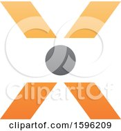 Orange Letter X Logo With A Circle In The Center