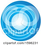 Clipart Of A Blue Letter O Logo Royalty Free Vector Illustration