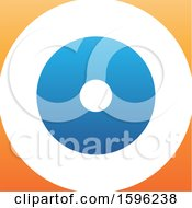 Clipart Of A Letter O Logo Royalty Free Vector Illustration