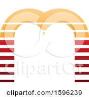 Striped Orange And Red Letter M Logo