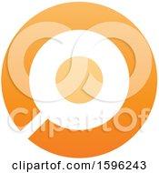 Clipart Of An Orange Letter O Logo Royalty Free Vector Illustration