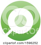 Clipart Of A Green Letter O Logo Royalty Free Vector Illustration