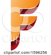 Clipart Of A Layered Orange And Red Letter F Logo Royalty Free Vector Illustration