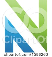 Blue And Green Letter N Logo
