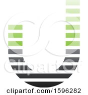 Striped Black And Green Letter J Logo