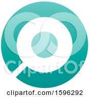 Clipart Of A Turquoise Letter O Logo Royalty Free Vector Illustration
