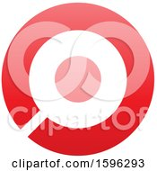 Clipart Of A Red Letter O Logo Royalty Free Vector Illustration