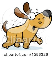 Clipart Of A Cartoon Flea Ridden Dog Royalty Free Vector Illustration