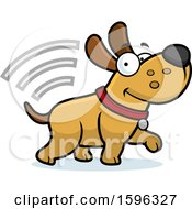Cartoon Dog With Microchip Signals