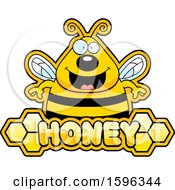 Bee Over A Honey Text Banner