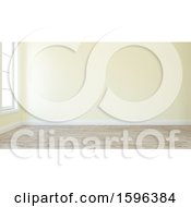 Clipart Of A 3d Empty Room Interior Royalty Free Illustration
