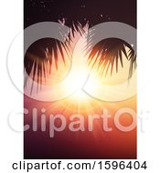 Clipart Of A Tropical Sunset Royalty Free Vector Illustration
