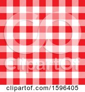 Clipart Of A Red And White Gingham Background Pattern Royalty Free Vector Illustration