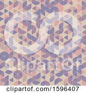 Clipart Of A Retro Geometric Background Royalty Free Vector Illustration