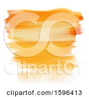 Poster, Art Print Of Hafltone And Orange Watercolor Strokes Background On White