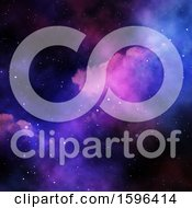 Clipart Of A Nebula Background Royalty Free Illustration