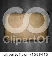 Clipart Of A Paper And Metal Background Royalty Free Illustration