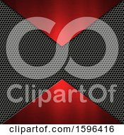 Clipart Of A Red And Perforated Metal Background Royalty Free Illustration
