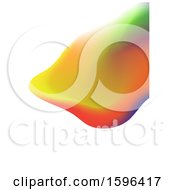 Clipart Of A Colorful Abstract Painted Background Royalty Free Vector Illustration